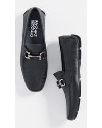 2b639212f50 Lyst - Ferragamo Parigi Bit Driver Shoes in Black for Men
