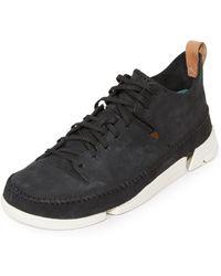 Clarks - Nubuck Trigenic Flex Sneakers - Lyst