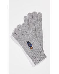 Polo Ralph Lauren - Jean Jacket Sweater Bear Gloves - Lyst