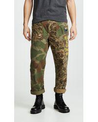 Polo Ralph Lauren - Camo Canvas Patchwork Pants - Lyst