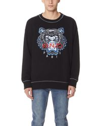 KENZO - Sweatshirt With Tiger Embroidery - Lyst