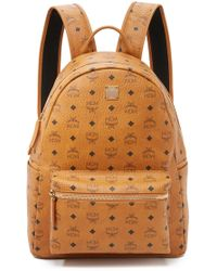 MCM - Stark Medium Coated Canvas Backpack - Lyst