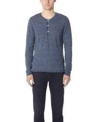 Billy Reid - Heirloom Henley Shirt - Lyst