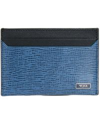 Tumi - Monaco Slim Leather Card Case - Lyst