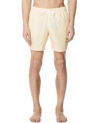 Lacoste - Striped Swim Shorts - Lyst