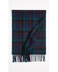 COACH - Wool Cashmere Blend Shirt Plaid Scarf - Lyst