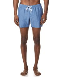 Lacoste - Solid Swim Shorts - Lyst