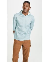 Vince - Double Knit Pullover Hoodie - Lyst