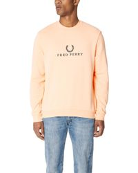 Fred Perry - Embroidered Sweatshirt - Lyst