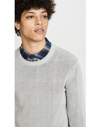 Club Monaco - Plaited Linen Crew Neck Sweater - Lyst