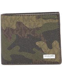 Michael Kors - Jet Set Pop Camo Signature Billfold - Lyst