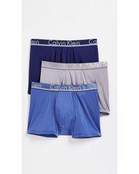 Calvin Klein - 3 Pack Comfort Microfiber Trunks - Lyst