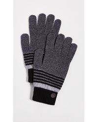 Ted Baker - Striped Knit Gloves - Lyst