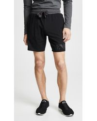 Emporio Armani - Melange Terry Sweat Shorts - Lyst