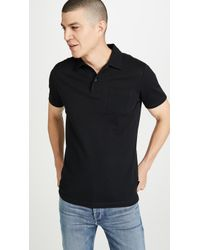 Sunspel Short Sleeve Rivieria Polo Shirt - Black