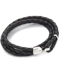 Miansai - Trice Woven Leather Wrap Bracelet - Lyst