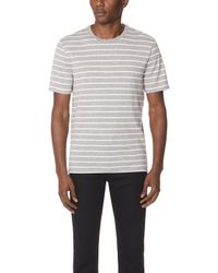 Vince - Heather Striped Tee - Lyst