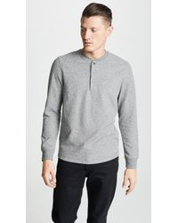 Theory - Classic Long Sleeve Henley - Lyst