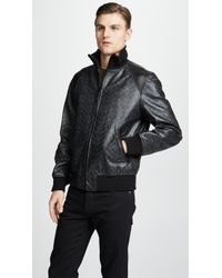 COACH - Signature Leather Track Jacket - Lyst