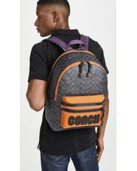 COACH Signature Academy Backpack With Coach Patch