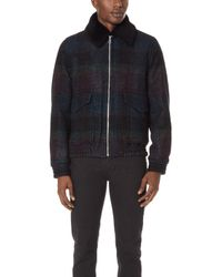 PS by Paul Smith - Flight Jacket With Sheepskin Collar - Lyst