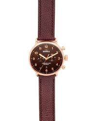 Shinola - The Canfield Chronograph 43mm Watch - Lyst