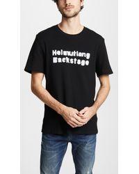 Helmut Lang - Backstage Waffle Knit Cotton Blend T Shirt - Lyst