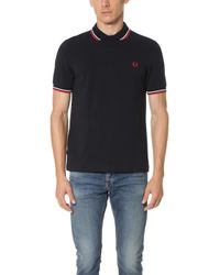 Fred Perry | Slim Fit Twin Tipped Shirt | Lyst