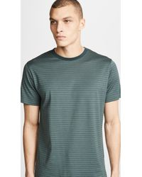 Sunspel - Short Sleeve Classic Crewneck Striped Tee - Lyst