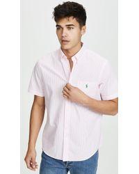 Polo Ralph Lauren - Short Sleeve Seersucker Shirt - Lyst