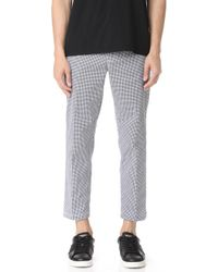 Obey - Straggler Houndstooth Trousers - Lyst