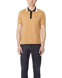 Fred Perry - Contrast Collar Pique Shirt - Lyst