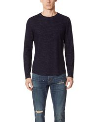 Vince - Contrast Double Knit Shirt - Lyst
