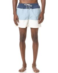 Solid & Striped - The Classic Colorblocked Trunks - Lyst