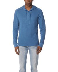 Vince - Double Knit Hooded Henley - Lyst