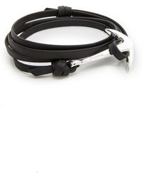 Miansai - Anchor Leather Bracelet - Lyst