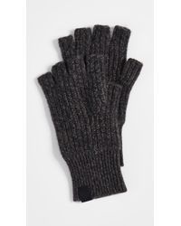 Rag & Bone - Ace Fingerless Mélange Cashmere Gloves - Lyst