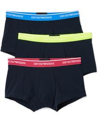 Emporio Armani - 3 Pack Core Logoband Trunks - Lyst