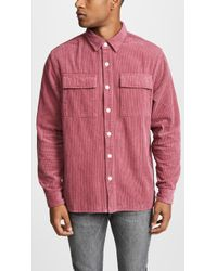 Saturdays NYC - Magnus Heavy Cord Long Sleeve Shirt - Lyst