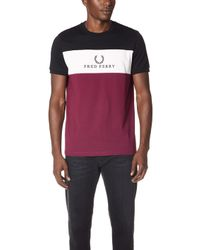 Fred Perry - Panel Embroidered T-shirt - Lyst