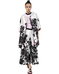Antonio Marras Printed Viscose Cotton Satin Cocoon Coat - Lyst