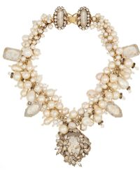 Erickson Beamon Pearl Jam Gold-Plated, Swarovski Crystal And Faux Pearl Necklace - Lyst