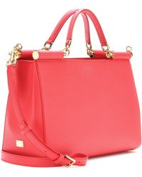 Dolce & Gabbana Dauphine Leather Tote - Lyst