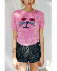 Lazy Oaf - Fluffy Kitty Sweater - Lyst