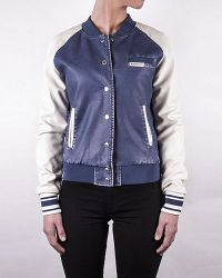 Members Only Women'S Washed Varsity Jacket - Lyst