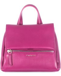Givenchy Magenta Pandora Pure Leather Hammered Bag Small pink - Lyst