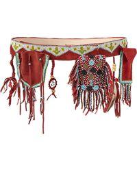 Etro Sioux Embellished Suede Belt - Lyst