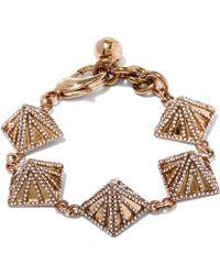 Lulu Frost Gold-tone Apex Pave Bracelet