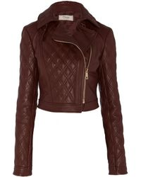 Temperley London Rolin Cropped Leather Jacket - Lyst