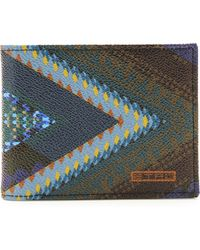 Etro Print Leather Wallet - Lyst